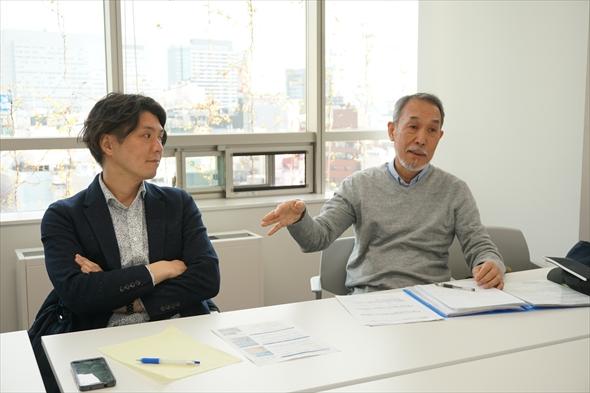 右:中村通夫さん 左:清水有さん